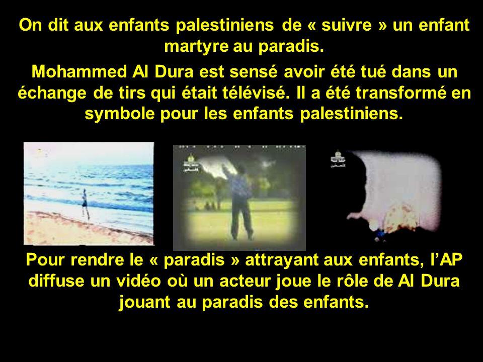 Message dArafat aux enfants, à la télé de lAP : « Devenir des martyres est le message le plus fort que vous puissiez envoyer au monde.