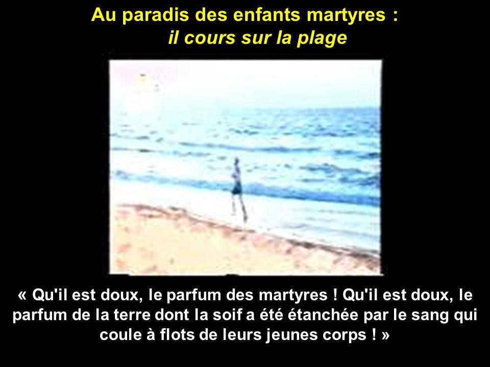 Le vidéo commence par Al Dura au paradis qui appelle les autres enfants palestiniens à le suivre : « Je vous fais signe non pas pour vous dire adieu, mais pour vous dire suivez moi.
