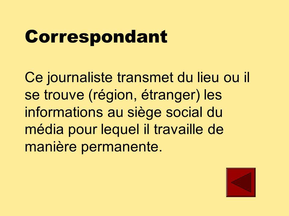 Animateur Ce journaliste présente les émissions ou sujets de reportages à la télévision ou à la radio.