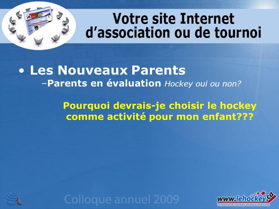 Les Nouveaux Parents –Parents en évaluation Hockey oui ou non.