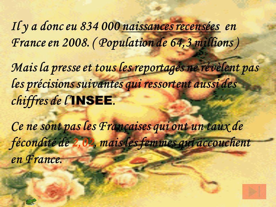 Le mercredi 14 janvier 2009, la télévision, les radios et la presse écrite ont relaté le fait que les Françaises seraient championnes de la fécondité,