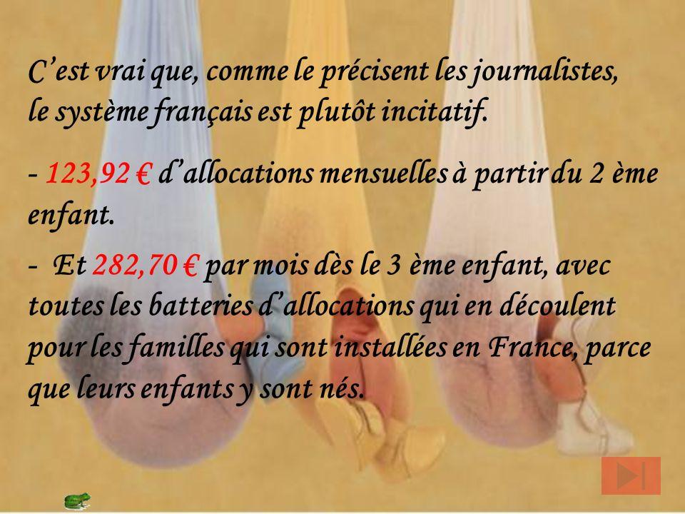Et si on prend les femmes nées Françaises, de parents Français ( quelle que soit leur origine ) on passe à 1,7 Ces données viennent de la même source