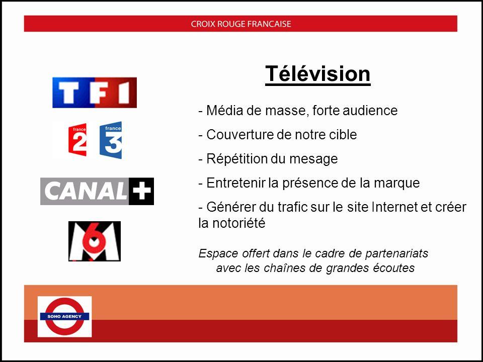 Cinéma - Renfort Répétition – Affinité Espace offert dans le cadre de partenariats avec le réseau de diffusion « Médiavision » - Couverture nationale et urbaine