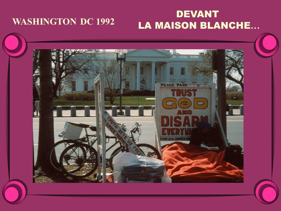 WASHINGTON DC 1992 DEVANT LA MAISON BLANCHE …