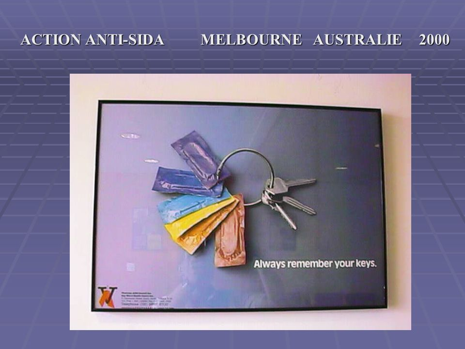 MELBOURNE AUSTRALIE 2000 ACTION ANTI SIDA