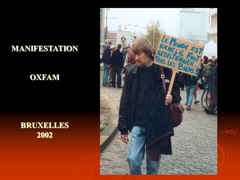 MANIFESTATION OXFAM BRUXELLES 2002