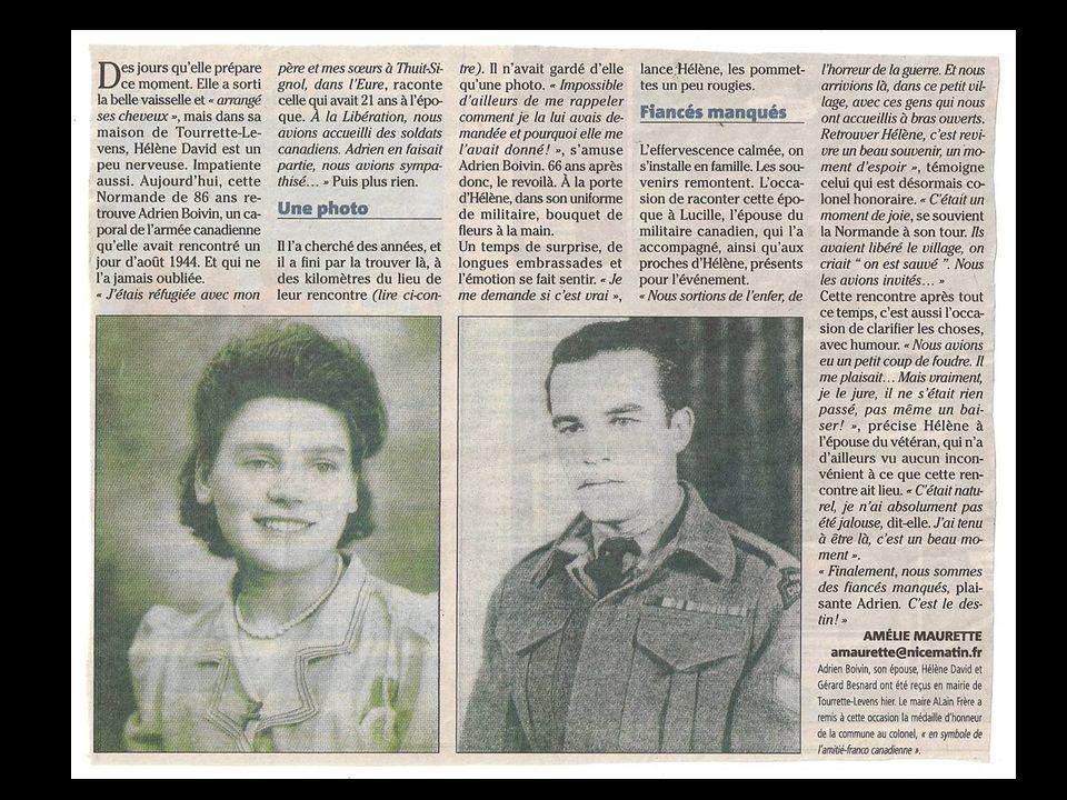 Une française fleurit les Tombes des Canadiens fusillés par les SS « Les français noublieront jamais les canadiens et leurs alliés.
