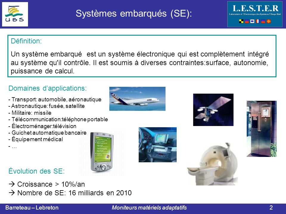 Barreteau – Lebreton Moniteurs matériels adaptatifs Corrélation des informations du thermal monitor et du processing monitor Analyse et prise de décision ( contre une éventuelle attaque ) Collaborative monitoring logic: 13 Exemple de moniteur : Collaborative monitors