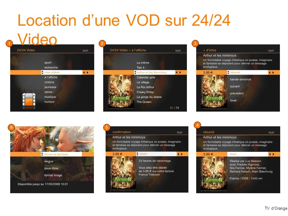 TV dOrange Location dune VOD sur 24/24 Video 123 4 56