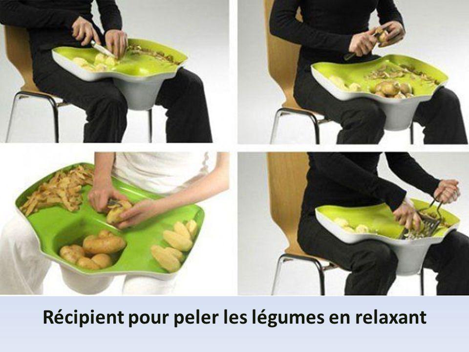 Récipient pour peler les légumes en relaxant