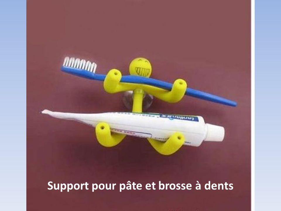 Support pour pâte et brosse à dents