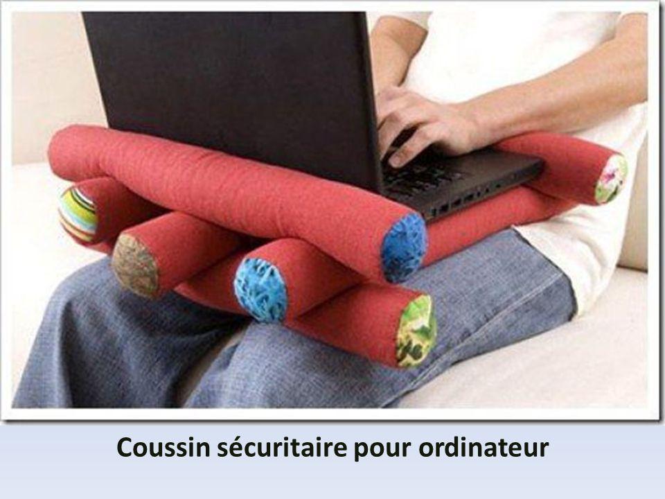 Coussin sécuritaire pour ordinateur