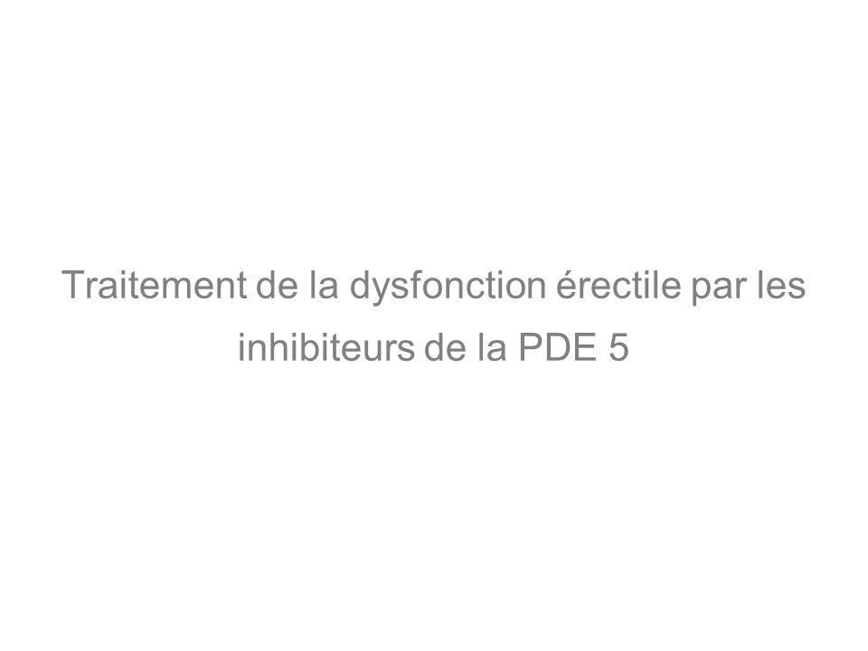 Traitement de la dysfonction érectile par les inhibiteurs de la PDE 5