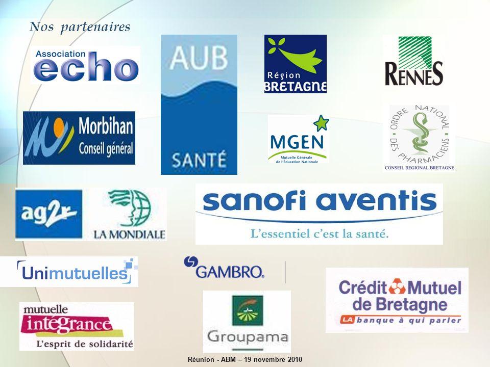 Nos partenaires Réunion - ABM – 19 novembre 2010