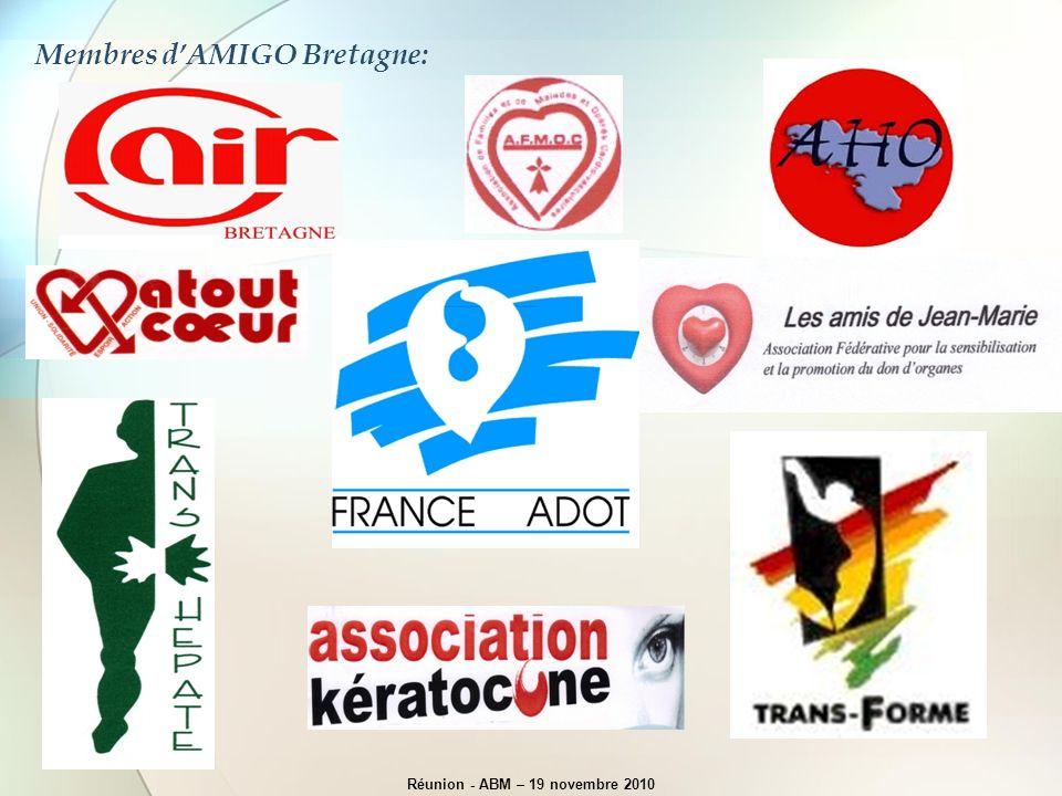 Membres dAMIGO Bretagne: Réunion - ABM – 19 novembre 2010