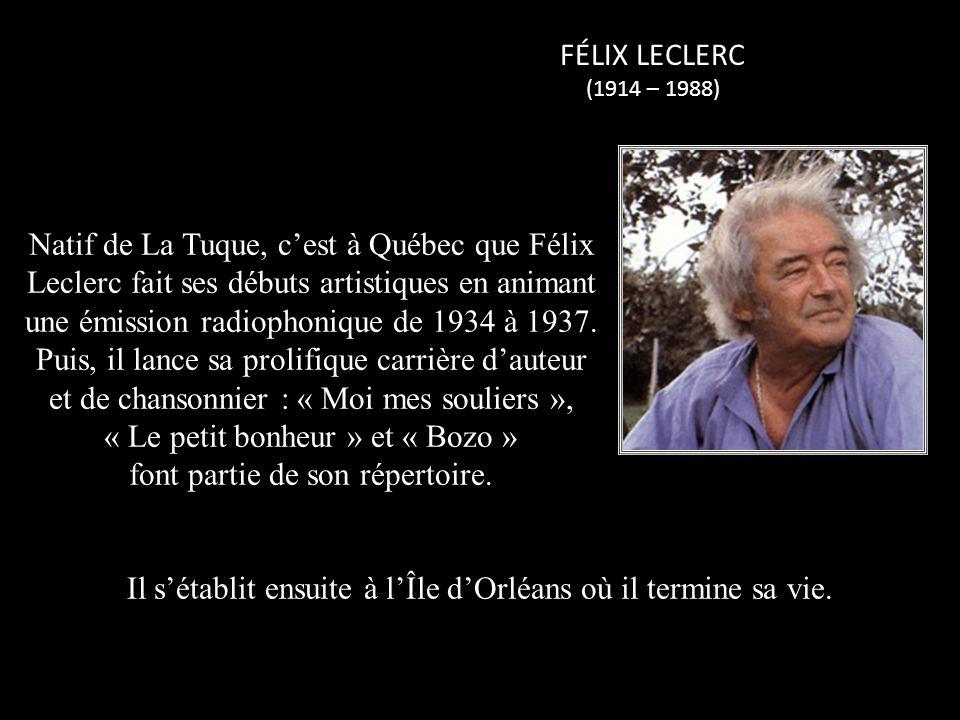 SYLVAIN LELIÈVRE (1943 – 2002) Chansonnier de la nouvelle vague, Sylvain Lelièvre laisse un souvenir impérissable grâce à ses chansons « Petit matin », « Marie-Hélène » et « Old Orchard » quil chante en duo avec Fabienne Thibault.