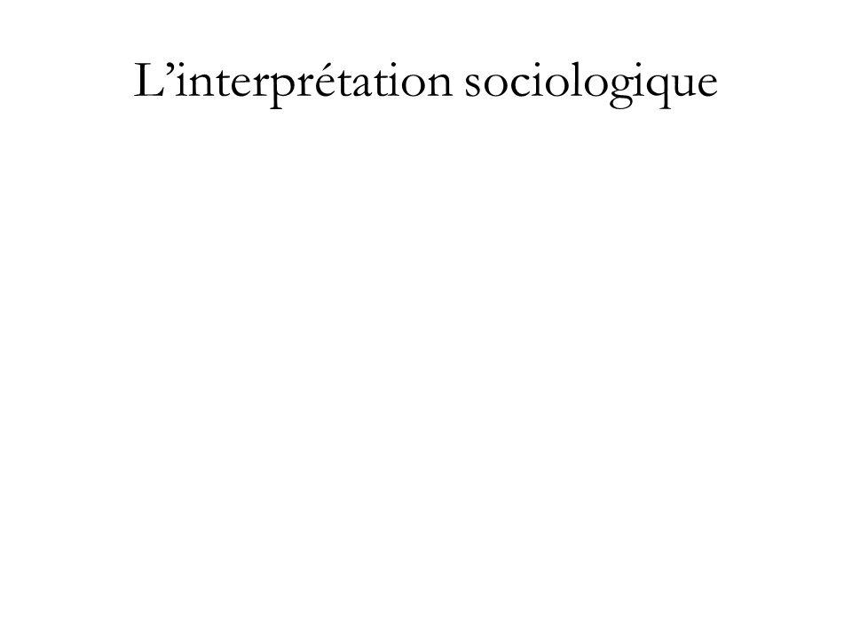 Linterprétation sociologique
