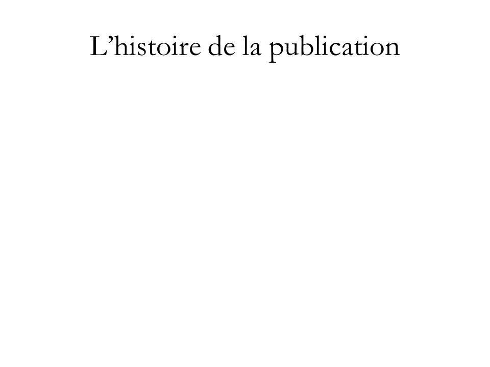 Lhistoire de la publication