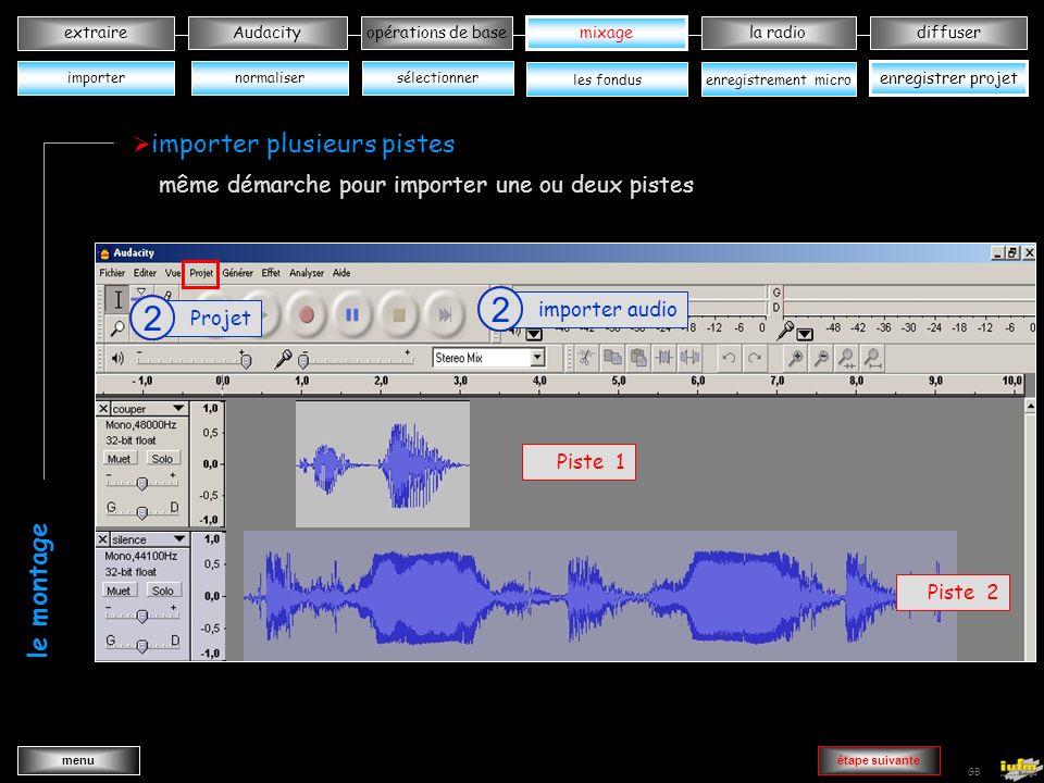 institutionnelles Didier ATTICA opérations de basele mixagela radiodiffuserAudacity extraire menu Wav->MP3 GB sélectionner une partie du projet 1 Menu fichier 2 Microphone exporter la sélection en MP3 3 normaliser enregistrer projet opérations de base sélectionner les fondusenregistrement micro xxxxxxxxxxxxx xxxxxxxxxxxxx xxxxxxxxxxxxx enregistrer avec un micro les opérations de base importer mixage