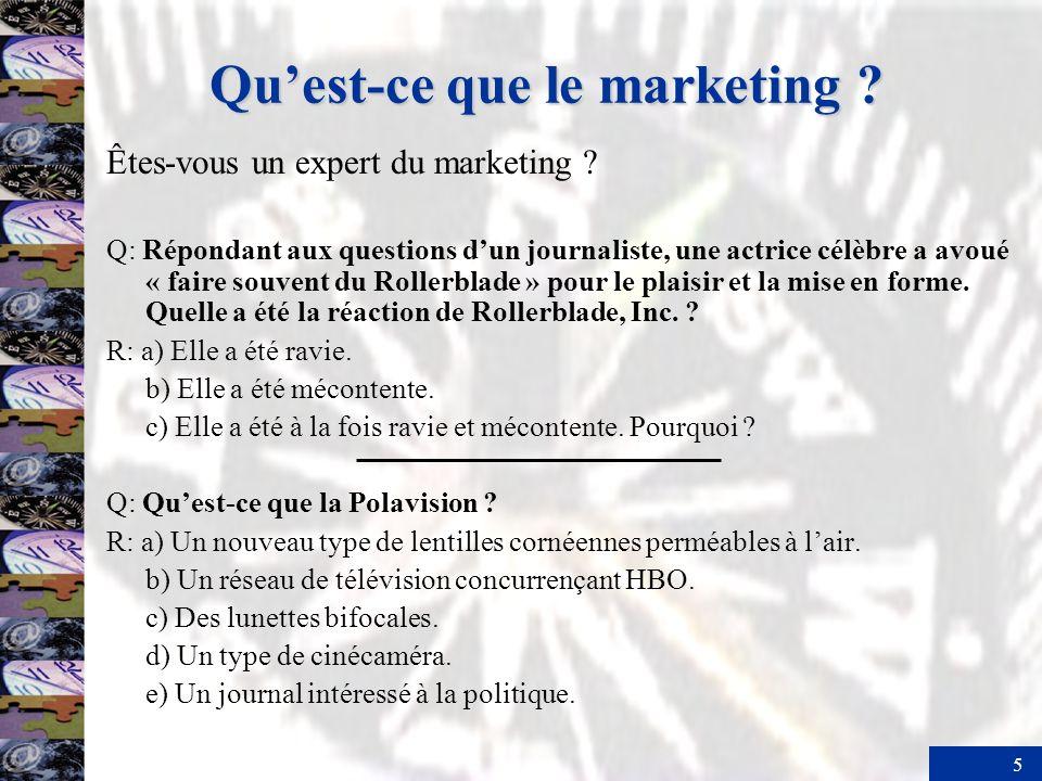 5 Quest-ce que le marketing ? Êtes-vous un expert du marketing ? Q: Répondant aux questions dun journaliste, une actrice célèbre a avoué « faire souve