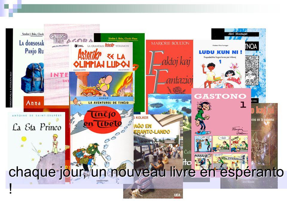 chaque jour, un nouveau livre en espéranto !