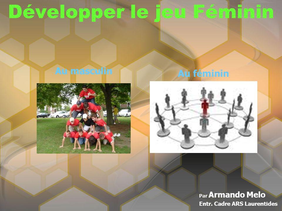 Développer le jeu Féminin Par Armando Melo Entr. Cadre ARS Laurentides Au masculin Au féminin