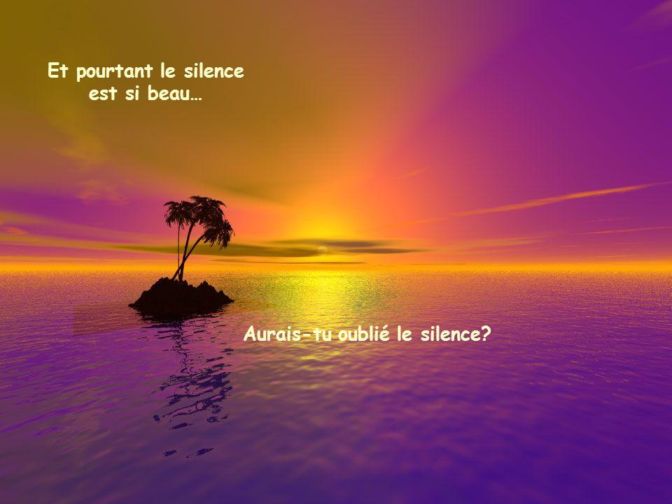 Et pourtant le silence est si beau… Aurais-tu oublié le silence?