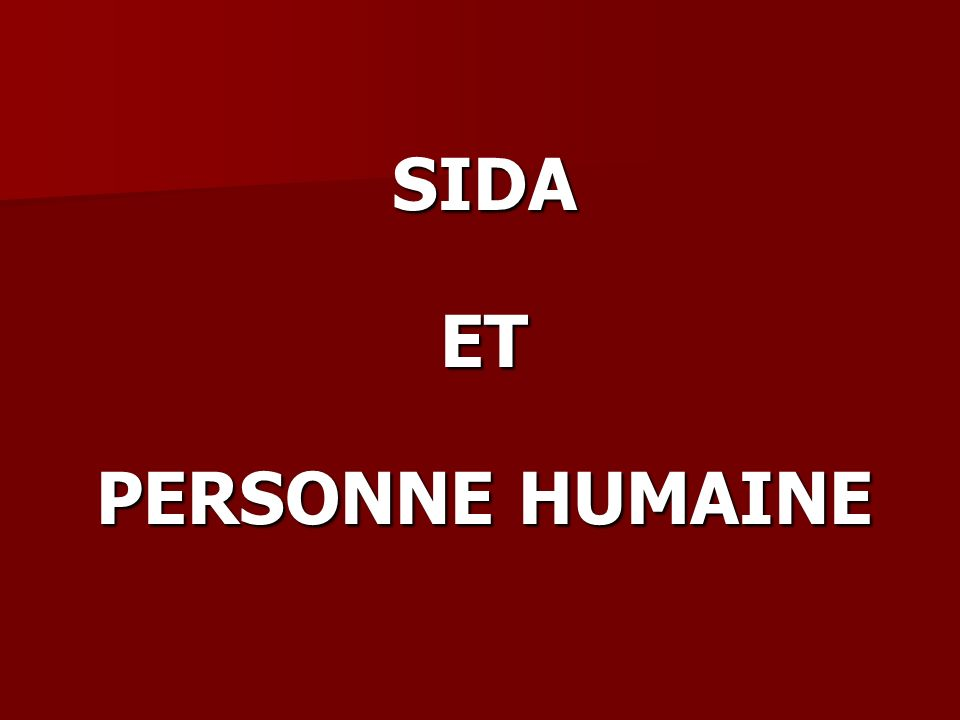 SIDAET PERSONNE HUMAINE