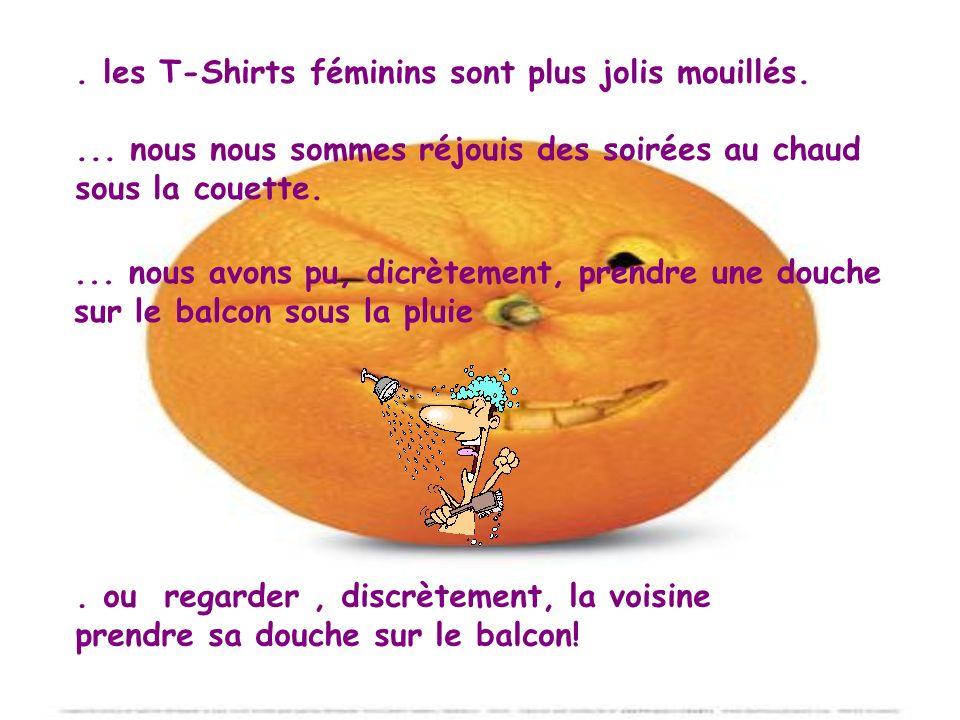 les T-Shirts féminins sont plus jolis mouillés....