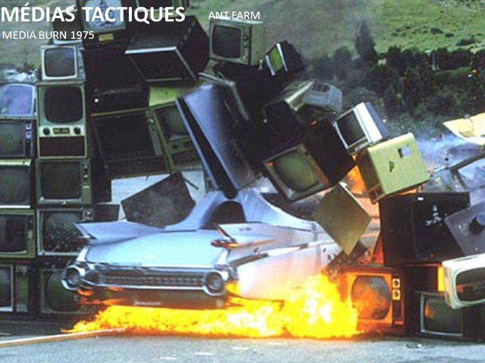 7 MÉDIAS TACTIQUES MEDIA BURN 1975 ANT FARM