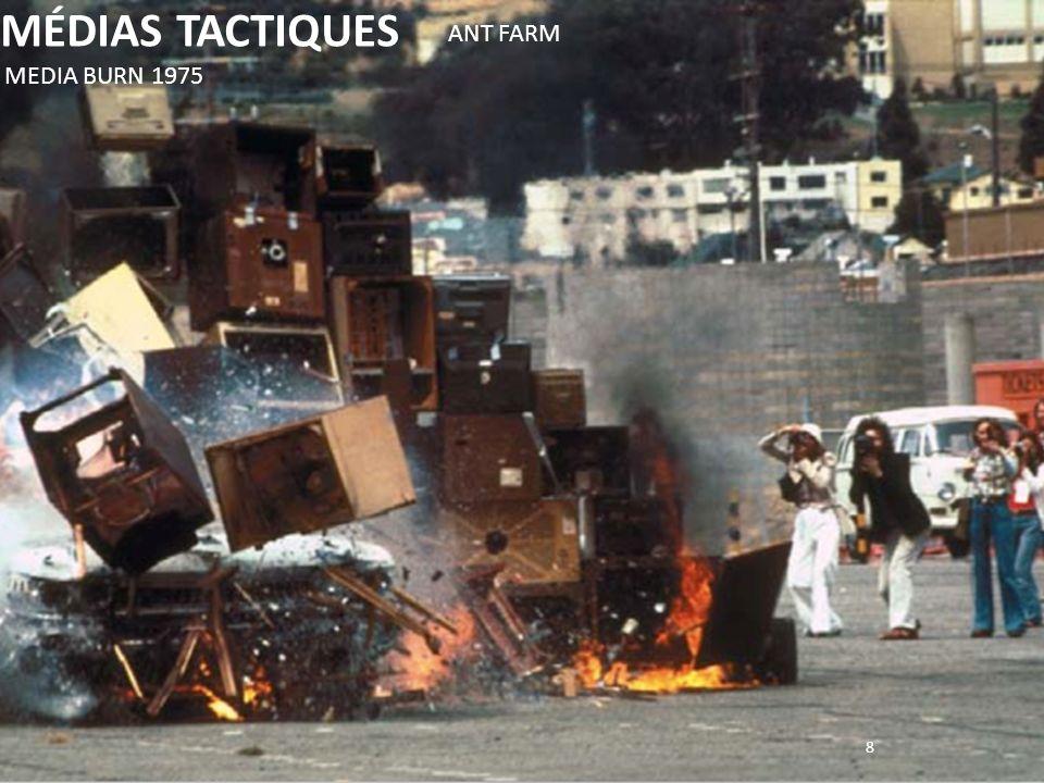 8 MÉDIAS TACTIQUES MEDIA BURN 1975 ANT FARM