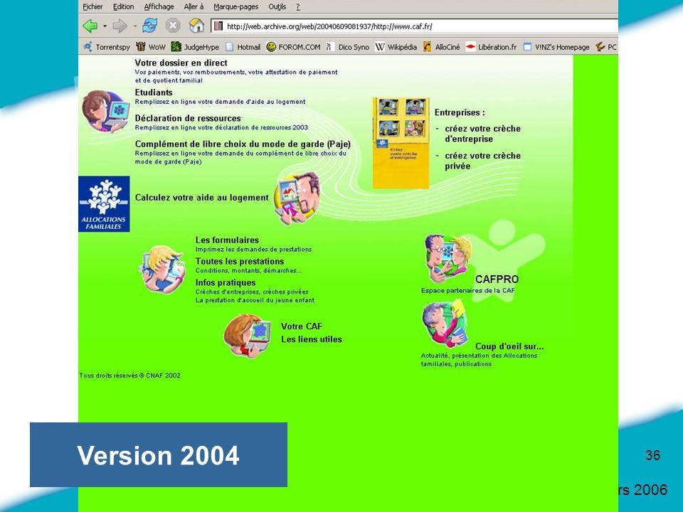 16 Mars 2006 36 Version 2004