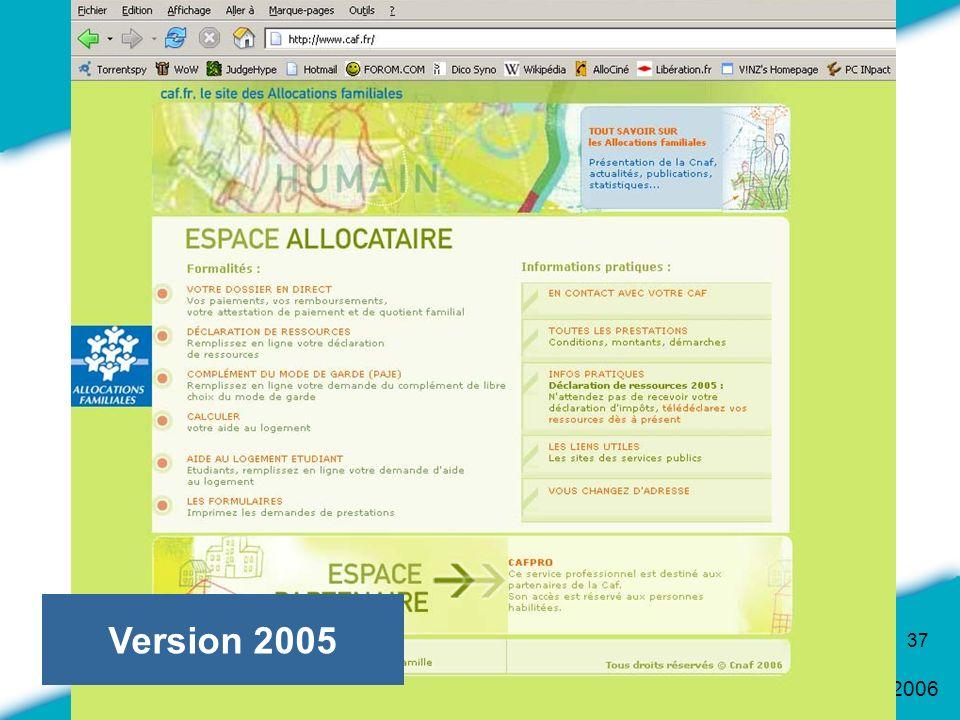 16 Mars 2006 37 Version 2005