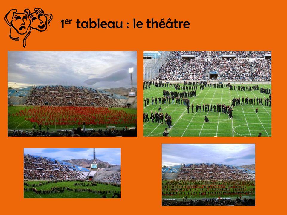 1 er tableau : le théâtre
