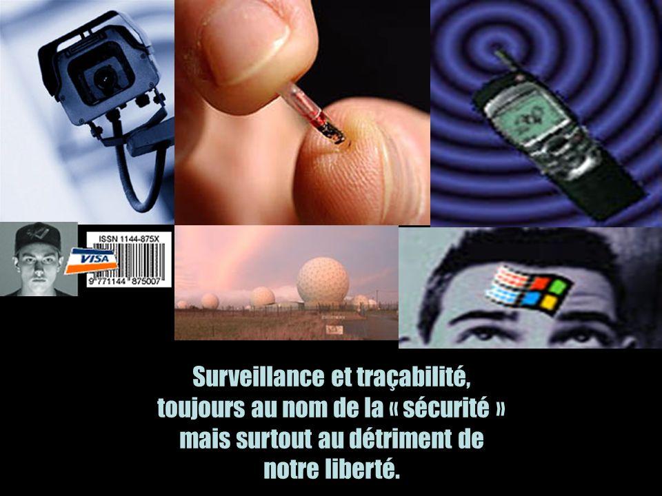 Surveillance et traçabilité, toujours au nom de la « sécurité » mais surtout au détriment de notre liberté.
