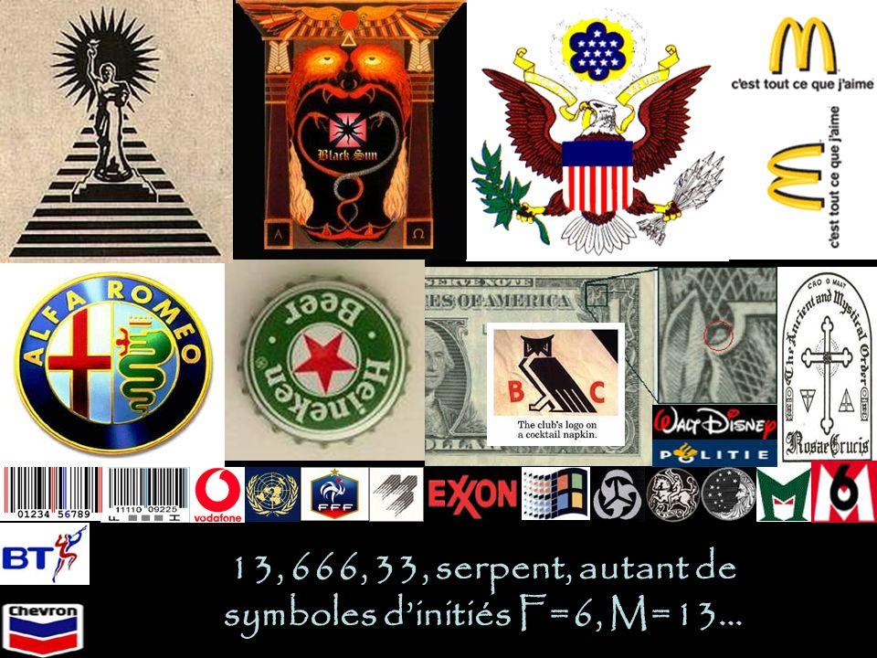 13, 666, 33, serpent, autant de symboles dinitiés F=6, M=13…