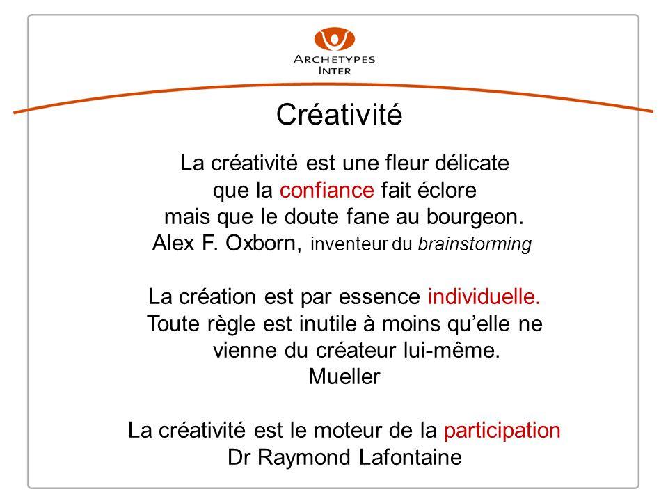 Créativité La créativité est une fleur délicate que la confiance fait éclore mais que le doute fane au bourgeon.