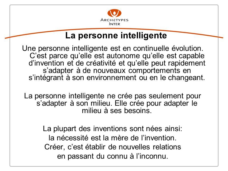 Une personne intelligente est en continuelle évolution.