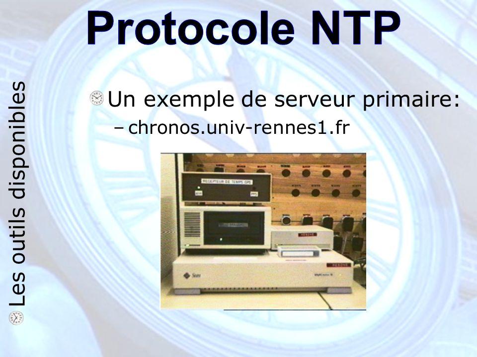 Un exemple de serveur primaire: –chronos.univ-rennes1.fr Les outils disponibles