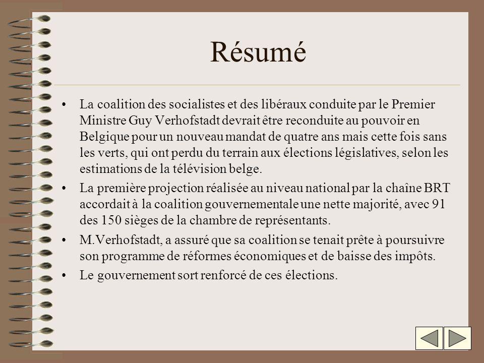 Élections en Belgique Lextrême-droite monte encore Socialistes et libéraux obtiennent la majorité aux législatives.
