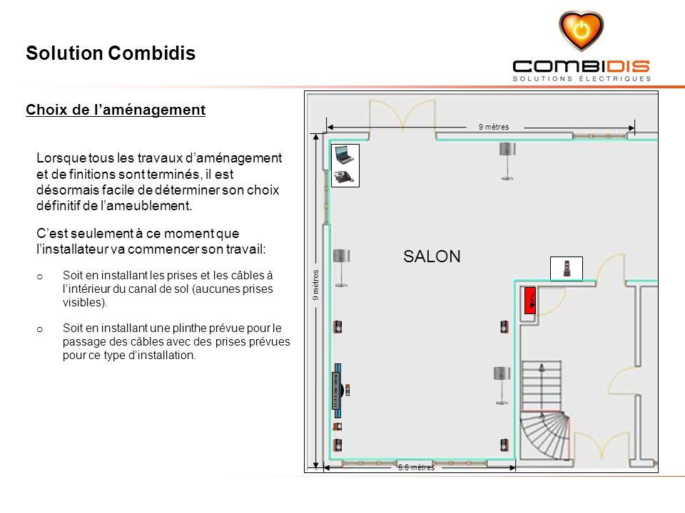 Solution Combidis 9 mètres 5.5 mètres 9 mètres SALON Lorsque tous les travaux daménagement et de finitions sont terminés, il est désormais facile de d