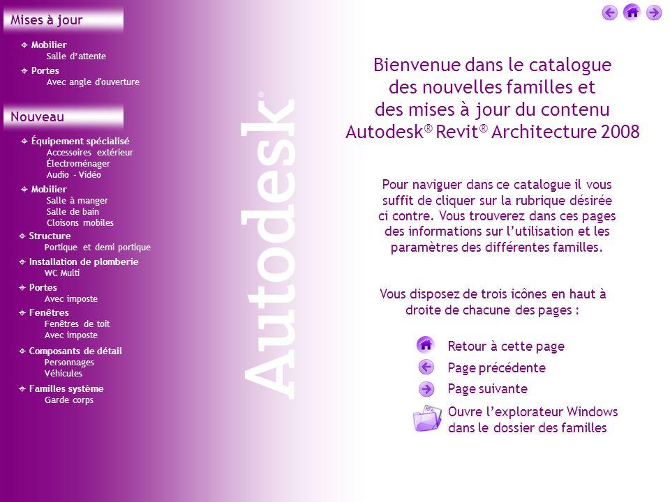 Équipement spécialisé Accessoires extérieur Électroménager Audio - Vidéo Bienvenue dans le catalogue des nouvelles familles et des mises à jour du con