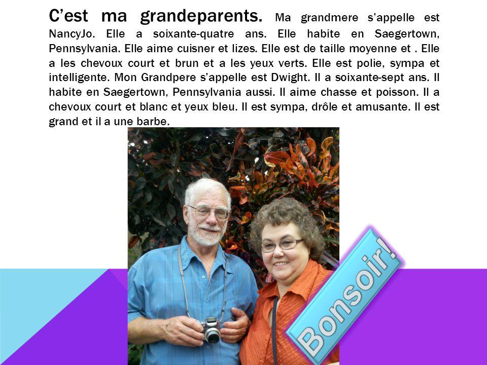 Cest ma grandeparents. Ma grandmere sappelle est NancyJo.