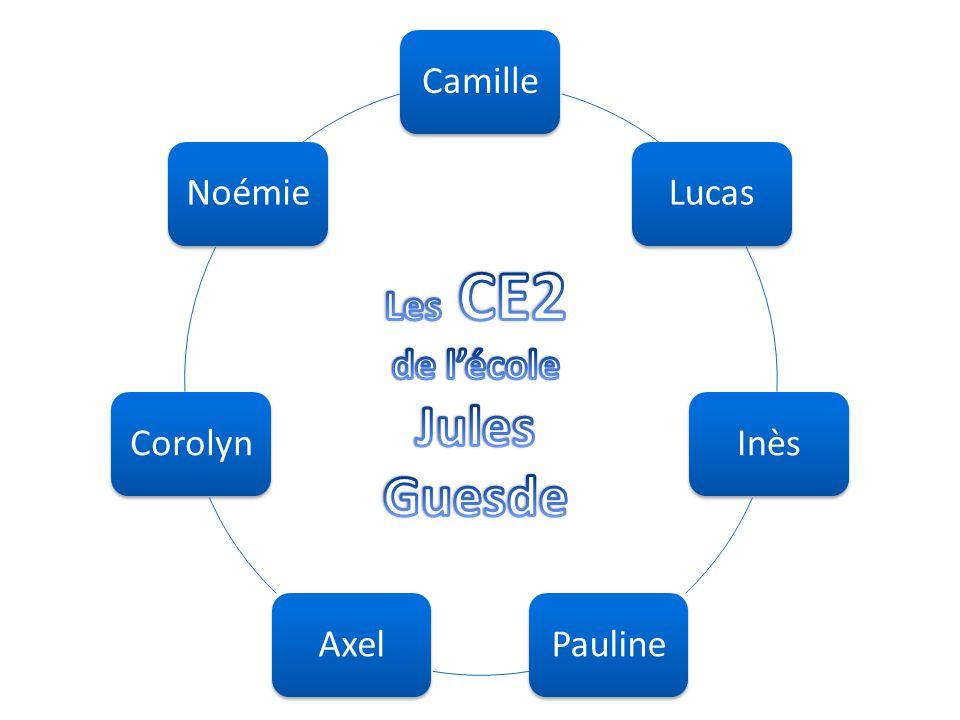 CamilleLucasInèsPaulineAxelCorolynNoémie