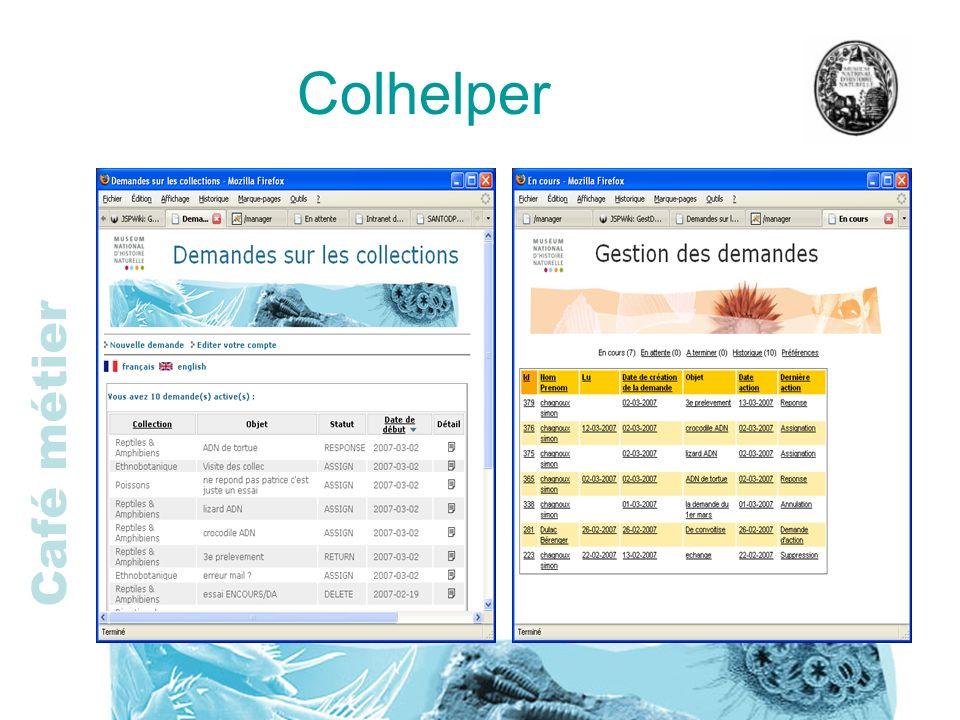 Café métier Colhelper