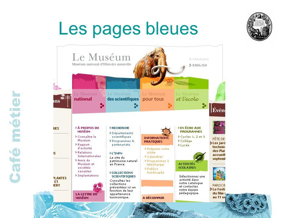 Café métier Les pages bleues