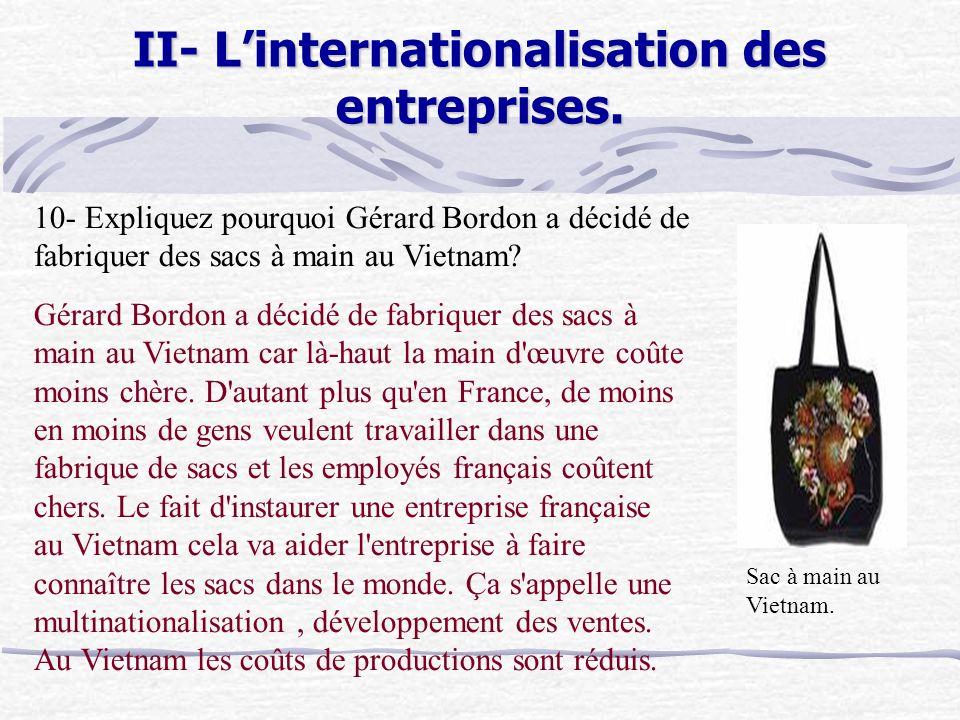 II- Linternationalisation des entreprises.