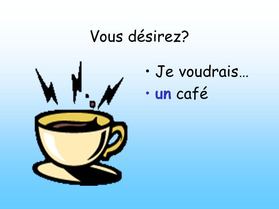 Vous désirez? Je voudrais… un café