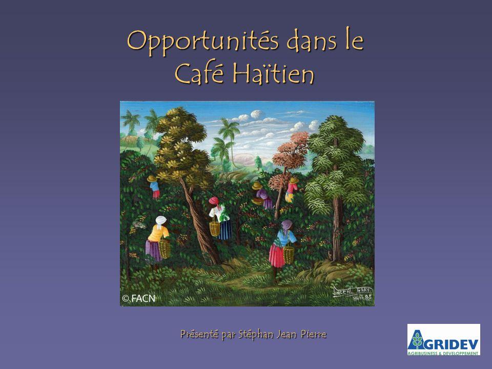 Opportunités dans le Café Haïtien Présenté par Stéphan Jean Pierre