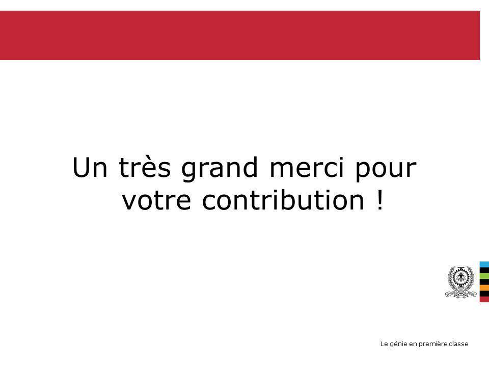 Le génie en première classe AU NOM DE HEC (ET EN MON NOM BIEN SÛR): Un très grand merci pour votre contribution !